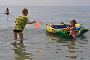 Teamwork beim Fischfang