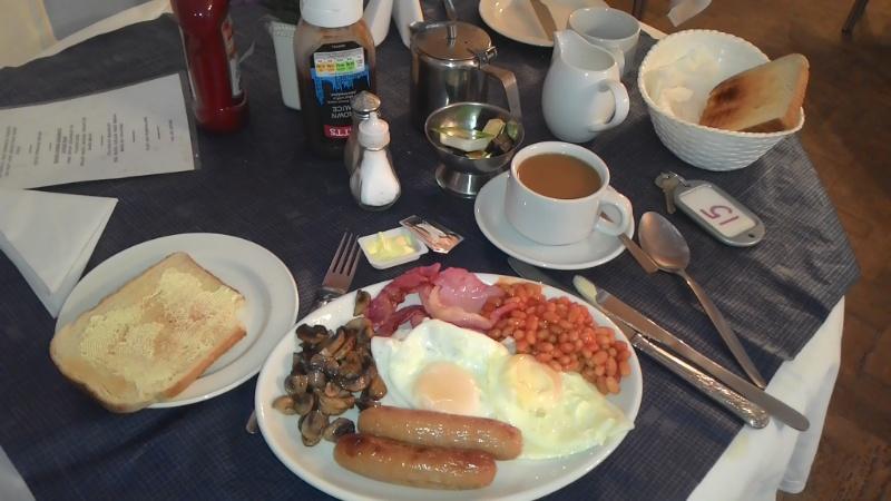 Das Frühstück im Glenwood Hotel